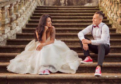 reportaje de boda, matrimonio sonriendo