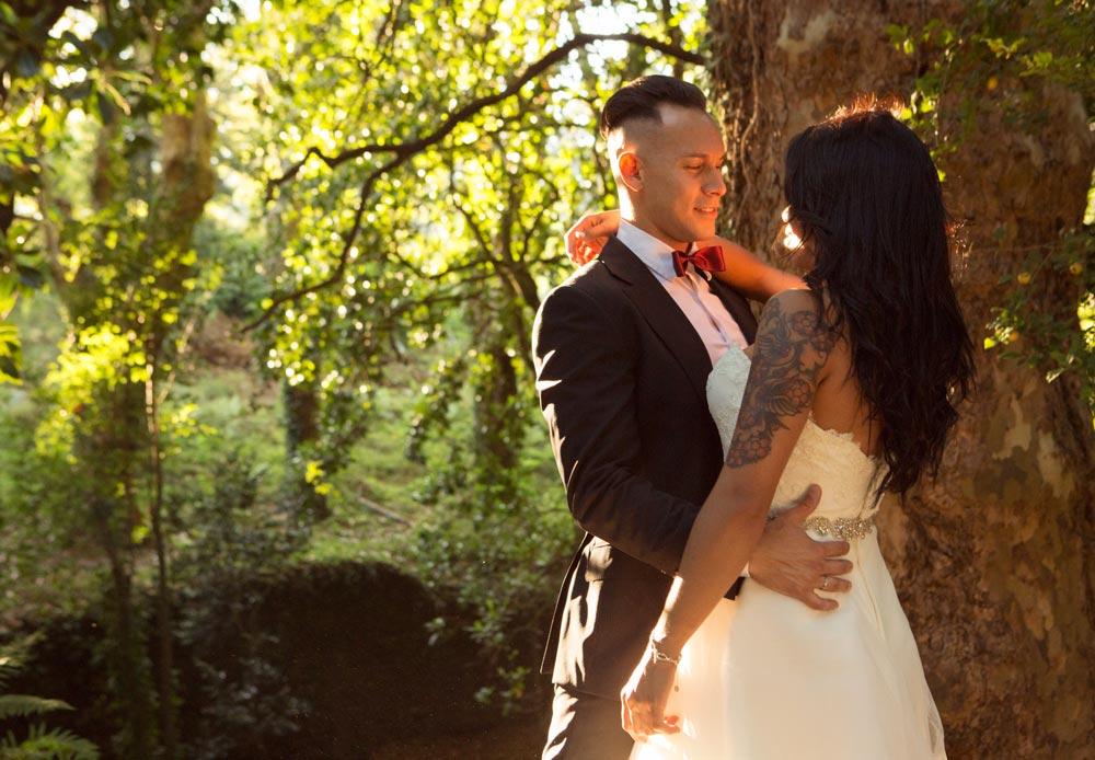 matrimonio mirándose