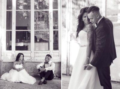 pareja sentada, sesión fotos boda en vigo