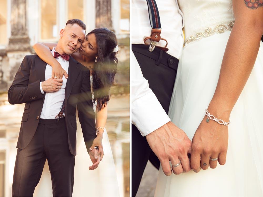 matrimonio cogido de las manos