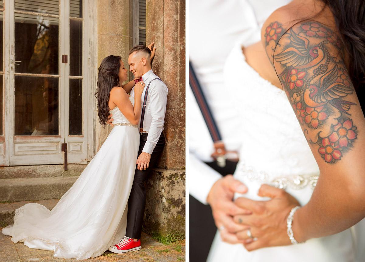 fotografía de boda en vigo, pareja mirándose